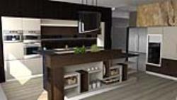 طراحی آشپزخانه با راینو