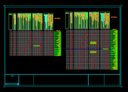 دانلود فایل اتوکد جدول نازک کاری برای نقشه های معماری فاز2
